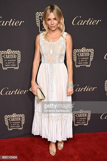 Sienna Miller attends the Cartier Fifth Avenue Grand Reopening Event at the Cartier Mansion on September 7 2016 in New York City