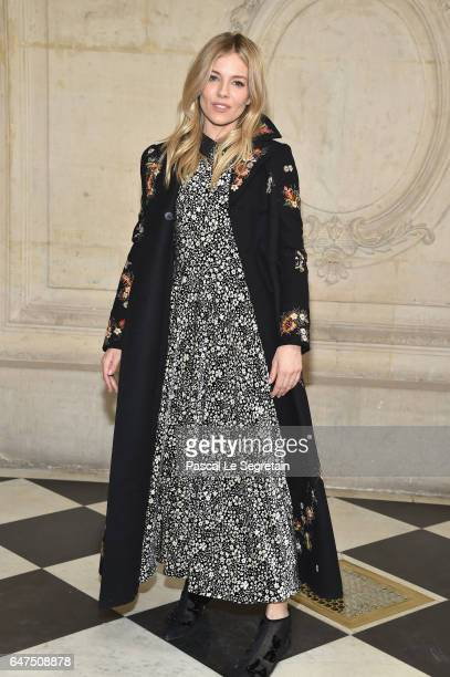Sienna Miller attends the Christian Dior show as part of the Paris Fashion Week Womenswear Fall/Winter 2017/2018 at Musee Rodin on March 3 2017 in...