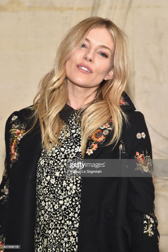 Sienna Miller attends the Christian Dior show as part of the Paris Fashion Week Womenswear Fall/Winter 2017/2018 at Musee Rodin on March 3, 2017 in Paris, France.