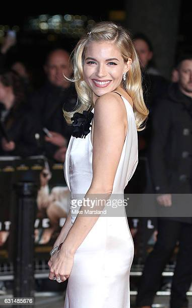 Sienna Miller attends the film premiere of 'Live By Night' on January 11 2017 in London United Kingdom