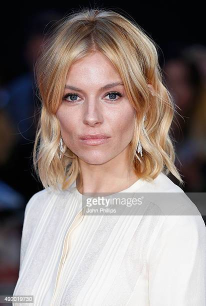 Sienna Miller attends the HighRise Screening during the BFI London Film Festival at Odeon Leicester Square on October 9 2015 in London England