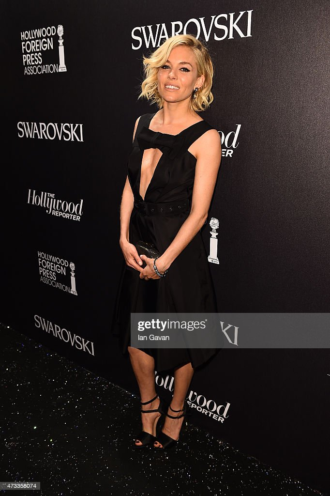 Sienna Miller attends the Hollywood Reporter and Swarovski party during the 68th annual Cannes Film Festival on May 14 2015 in Cannes France
