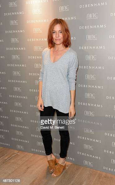 Sienna Miller attends the Nine by Savannah Miller for Debenhams Launch Party at The Roof Terrace Ham Yard Hotel on September 8 2015 in London England