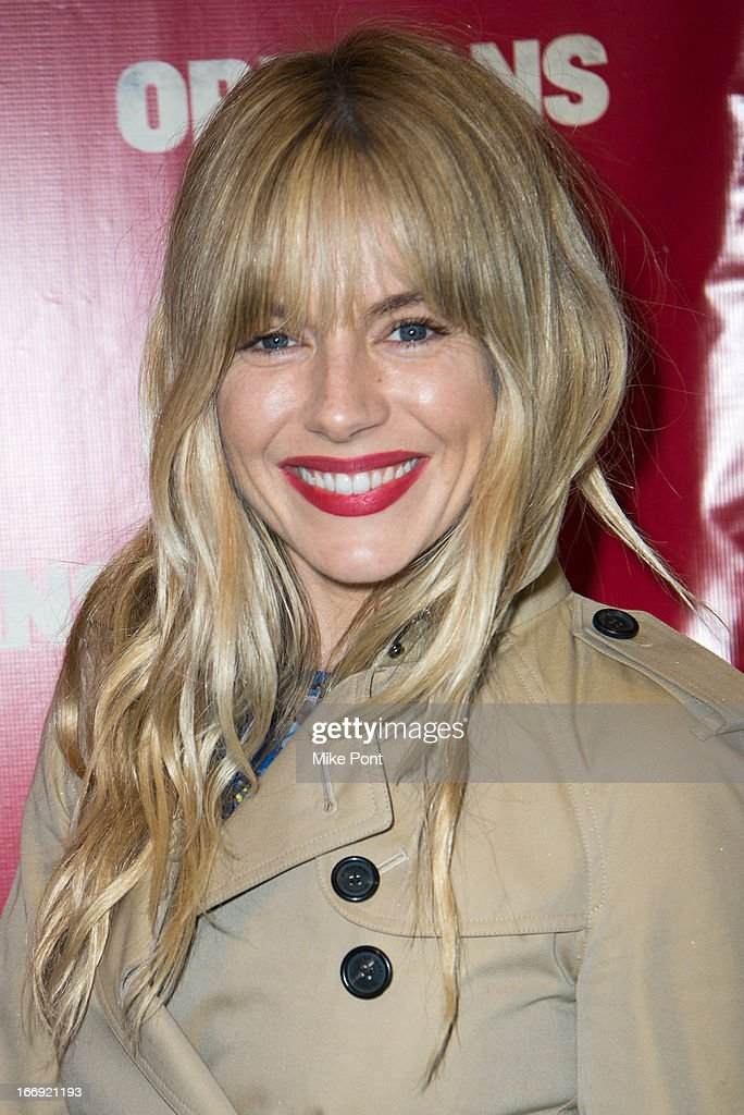 Sienna Miller attends the 'Orphans' Broadway opening night at the Gerald Schoenfeld Theatre on April 18 2013 in New York City