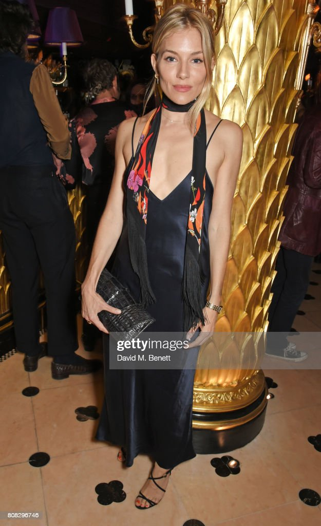 Sienna Miller attends the Rockins party to celebrate the Rockins Selfridges Pop-Up Shop at Park Chinois, supported by Ciroc, on July 4, 2017 in London, England.