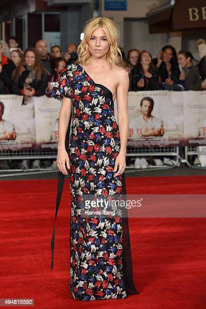 Sienna Miller attends the UK Film Premiere of 'Burnt' at Vue West End on October 28 2015 in London England