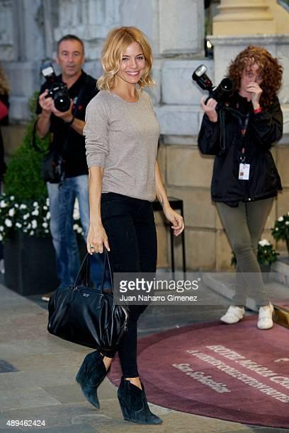 Sienna Miller is seen arriving at Hotel Maria Cristina on September 21 2015 in San Sebastian Spain