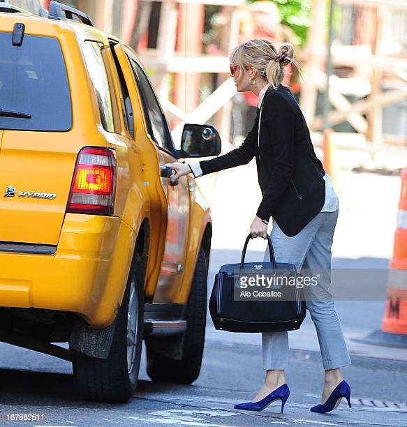 Sienna Miller is seen in the West Village on April 26 2013 in New York City