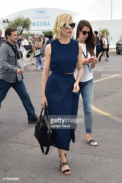 Sienna Miller is seen on day 7 of the 68th annual Cannes Film Festival on May 19 2015 in Cannes France