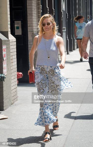 Sienna Miller is seen on July 24 2015 in New York City