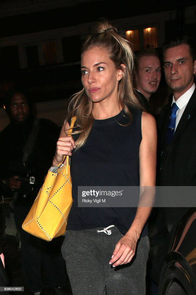 Sienna Miller leaving Apollo Theatre after her performance in Cat on a Hot Tin Roof on August 23, 2017 in London, England.