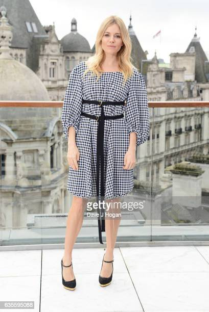 Sienna Miller poses at a photocall for 'The Lost City Of Z' at Corinthia London on February 16 2017 in London England
