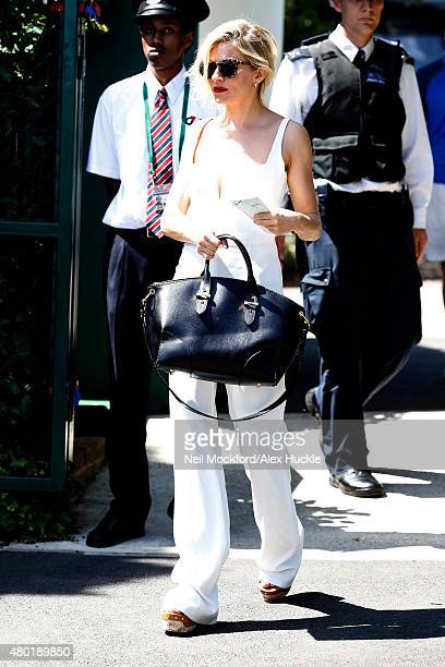 Sienna Miller seen arriving at Wimbledon on July 10 2015 in London England Photo by Neil Mockford/Alex Huckle/GC Images
