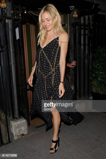 Sienna Miller sighting at Annabels private club on July 13 2017 in London England