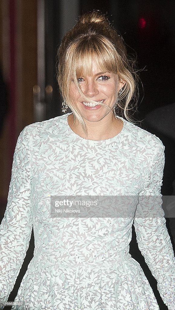 Sienna Miller sighting at the Royal Festival Hall, South Bank on May 12, 2013 in London, England.