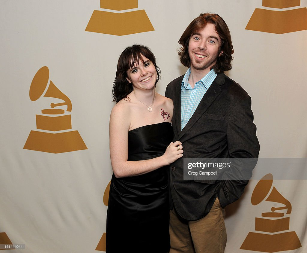 Siera Beckwith and Anthony Tarullo attend the 55th Annual GRAMMY Awards Telecast Party at Hard Rock Cafe on February 10, 2013 in Chicago, Illinois.