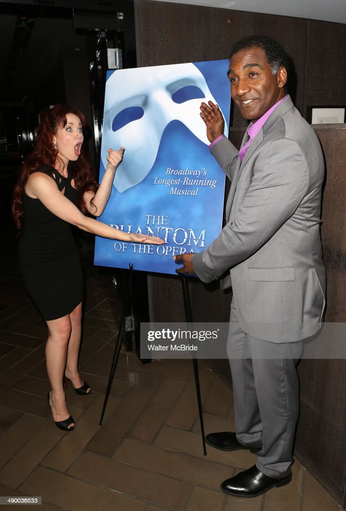 Sierra Boggess and Norm Lewis attends the post show celebration for Norm Lewis and Sierra Boggess starring in 'Phantom of the Opera' at the Paramount Hotel on May 12, 2014 in New York City.