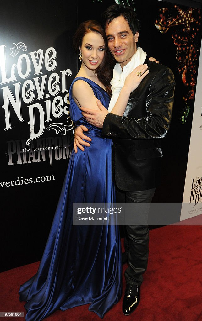 <a gi-track='captionPersonalityLinkClicked' href=/galleries/search?phrase=Sierra+Boggess&family=editorial&specificpeople=539375 ng-click='$event.stopPropagation()'>Sierra Boggess</a> and Ramin Karimloo attend the afterparty following the world premiere of 'Love Never Dies' at the Old Billingsgate Market on March 9, 2010 in London, England.
