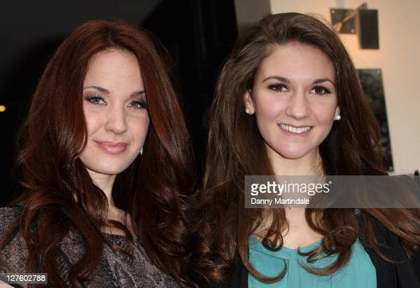 Sierra Boggess and Summer Strallen attend The Laurence Olivier Awards at Haymarket Hotel on February 22 2011 in London England
