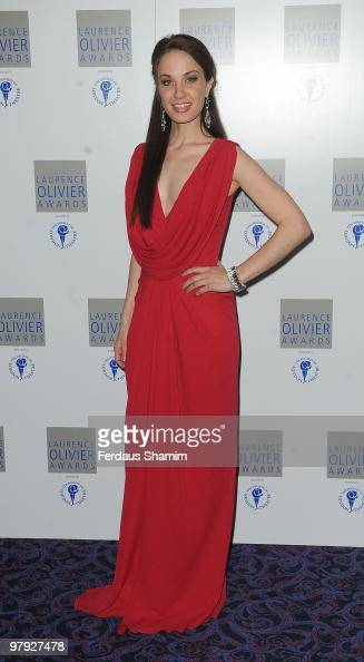 Sierra Boggess attends The Laurence Olivier Awards at The Grosvenor House Hotel on March 21 2010 in London England