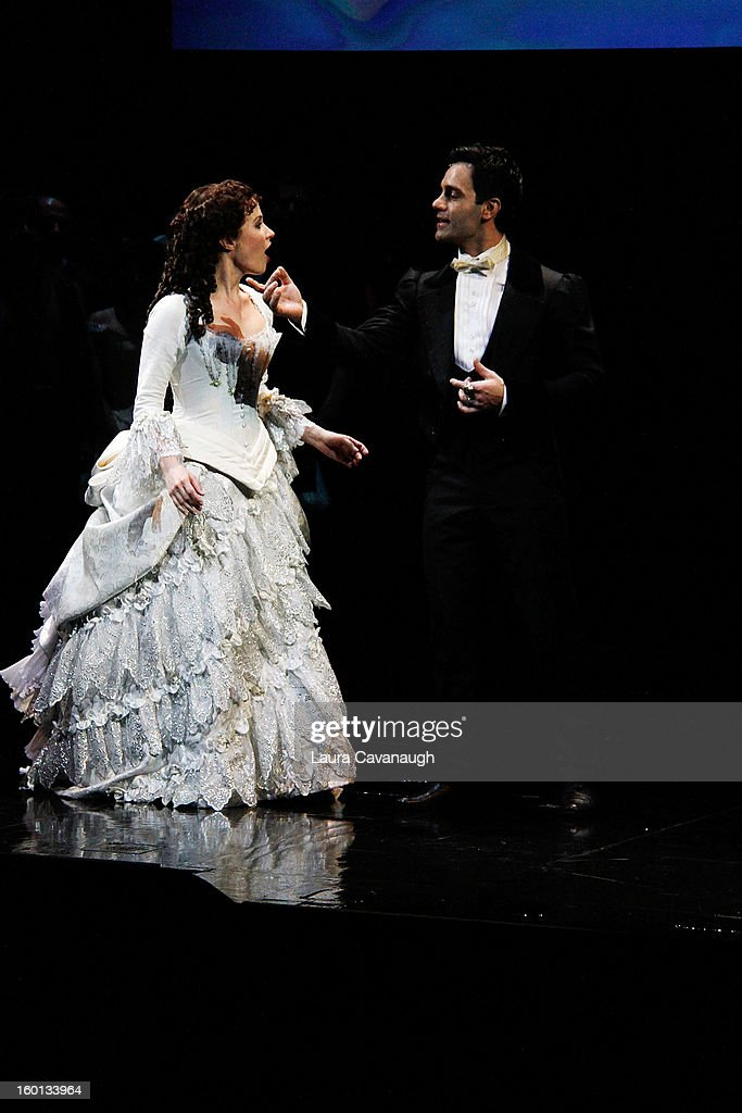 Sierra Boggess attends 'The Phantom Of The Opera' Broadway 25th Anniversary at Majestic Theatre on January 26, 2013 in New York, New York.