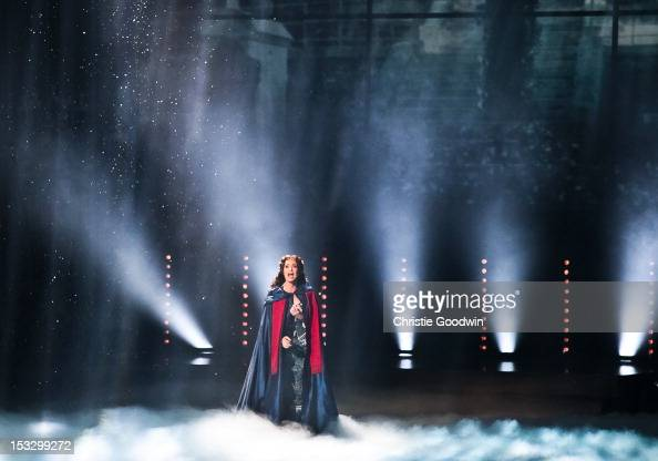 Sierra Boggess performs a song from Phantom Of The Opera at the Classic Brit Awards 2012 at Royal Albert Hall on October 2 2012 in London United...