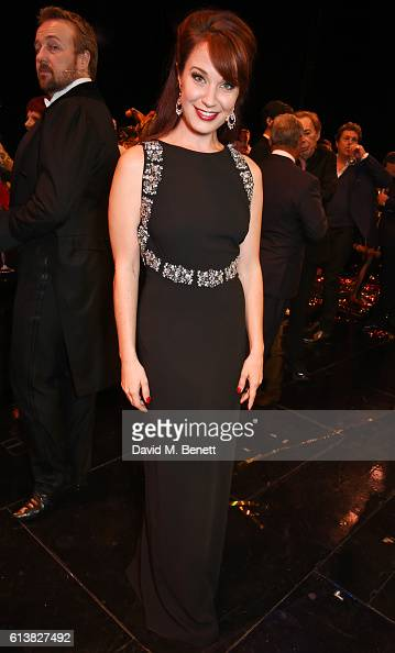Sierra Boggess poses onstage at 'The Phantom Of The Opera' 30th anniversary charity gala performance in aid of The Music in Secondary Schools Trust...