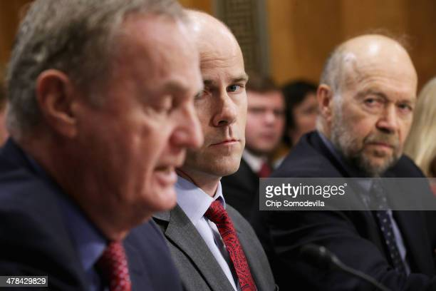 Sierra Club Executive Director Michael Brune and Columbia University Earth Institute adjunct professor James Hansen listen to Jones Group...