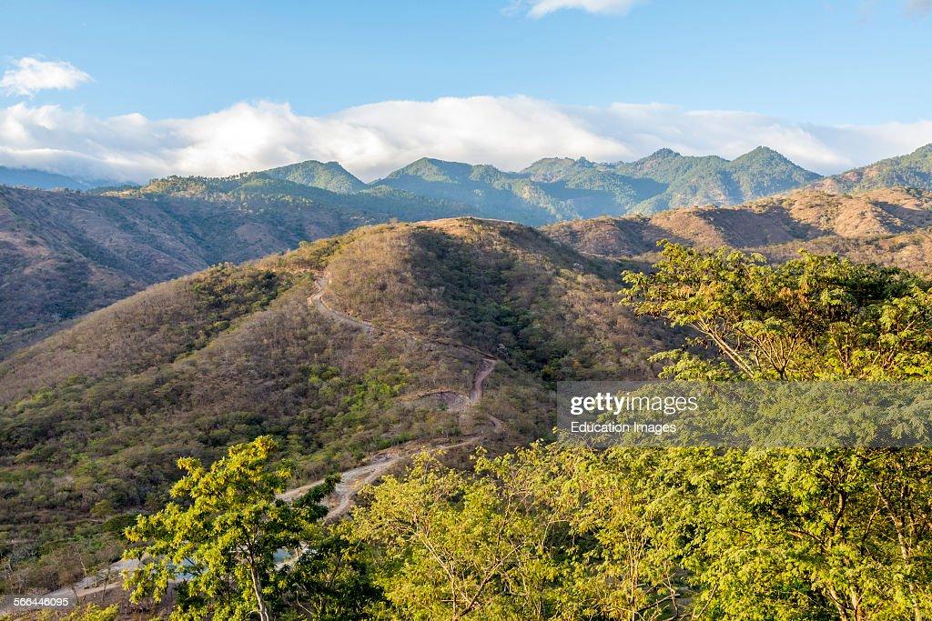 Sierra de las Minas mountains near Zacapa Guatemala