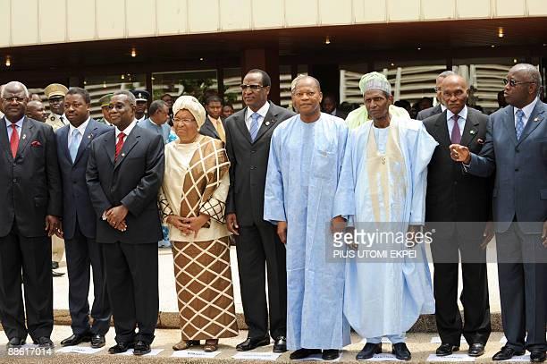 Sierra Leone President Ernest Koloma Togo President Faure Gnassingbe Ghana President John Atta Mills Liberian President Ellen Johnson Sirleaf Burkina...