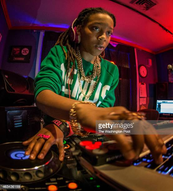 Sierra Roundtree a talented 12 year old DJ who goes by the name of DJ Beauty and the Beatz manning her mixing board during her weekly show on January...