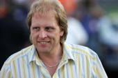 Sig Hansen Captain of the Northwestern crabcatcher vessel a boat featured on the Discovery Channel show 'Deadliest Catch' looks on during qualifying...