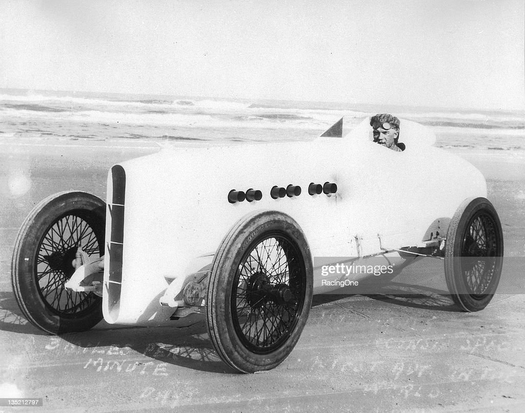 Sig Haugdahl in the 'Wisconsin Special' powered by a modified Wisconsin airplane engine became the first man worldwide to attain 180 mph