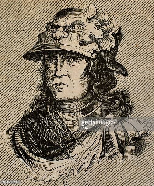 Sigeric Visigoth king for seven days in 415 Portrait Engraving
