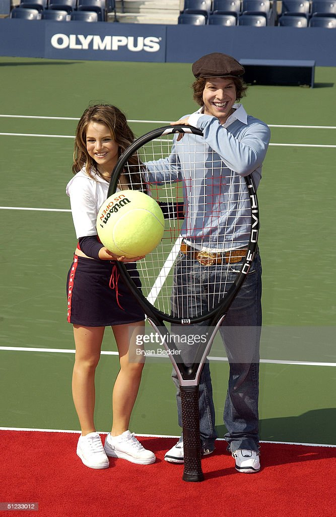 Sigers JoJo and Gavin degraw attend Arthur Ashe day at the US Open August 28, 2004 in New York City.