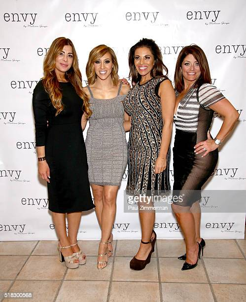 Siggy Flicker Melissa Gorga Dolores Catania and Kathy Wakile attend the Envy By Melissa Gorga Fashion Show at Macaluso's on March 30 2016 in...