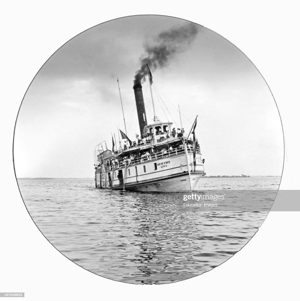 Sightseeing Boat Bay of Quinte Ontario Canada c 1915 Vintage Photograph