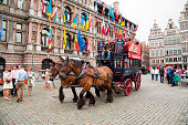 Sightseeing horse carriage at Grote Markt