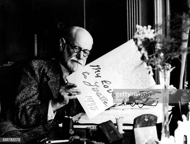 Sigmund Freud Austrian neurologist Founder of Psychoanalysis Portrait 1938