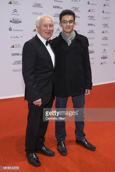 Sigmund Jaehn and his grandson Johannes arrive for the Goldene Henne 2013 award at Stage Theater on September 25 2013 in Berlin Germany