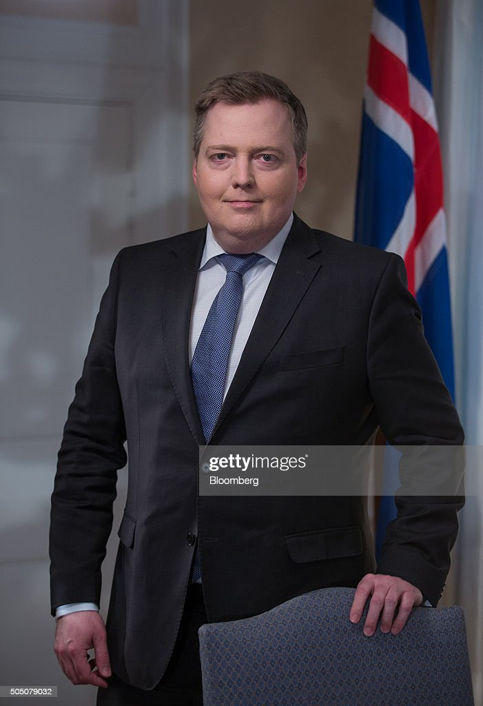 Sigmundur Gunnlaugsson, Iceland's prime minister, poses for a photograph following a Bloomberg Television interview at his office in Reykjavik, Iceland, on Thursday, Jan. 14, 2016. After releasing $17 billion in cash for creditors in its failed banks, the government is preparing to free a further 290 billion kronur ($2.2 billion) trapped for bond investors in March. Photographer: Arnaldur Halldorsson/Bloomberg via Getty Images