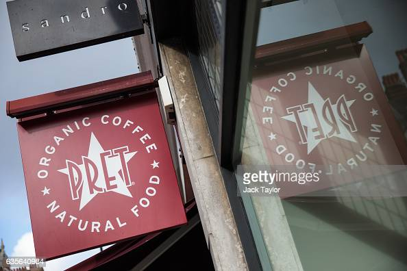 A sign advertises a Pret A Manger in Marylebone on February 16 2017 in London England The Association for Licensed Multiple Retailers have written to...
