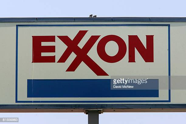 A sign advertises an Exxon gas station as the cost of southern California gas continues marching towards the five dollar a gallon mark on June 13...