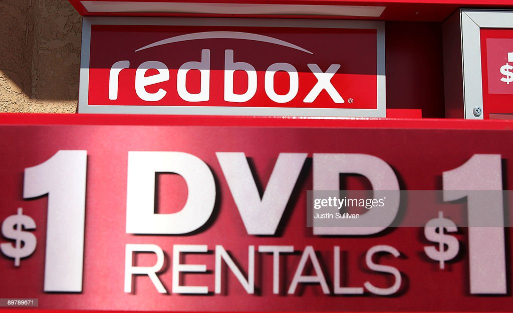 A sign advertising $1.00 dvd rentals is displayed on a RedBox video rental kiosk August 14, 2009 in San Rafael, California. Movie studios are making an attempt to limit new release movies to the fast growing DVD rental kiosk company RedBox in protest of their extremely low rental prices.