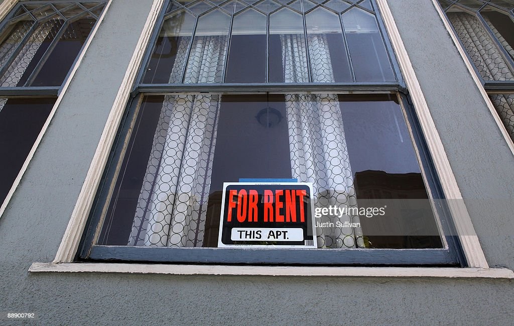 A sign advertising an apartment for rent is displayed in a window July 8 2009 in San Francisco California As the economy continues to falter vacancy...