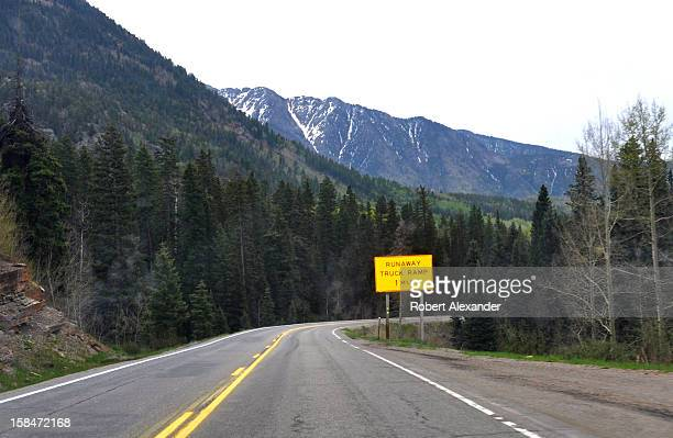 A sign along State Highway 550 near Durango Colorado informs truckers that a runaway truck ramp is ahead 5104602RA_Colorado18jpg