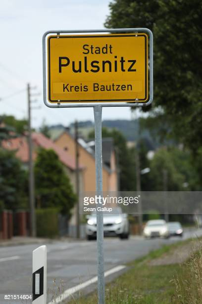 A sign announces the city limits on July 24 2017 in Pulsnitz Germany Linda W a German teenager from Pulsnitz was captured by Iraqi troops last week...