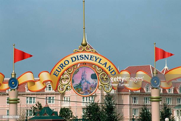 Sign at Entrance to Euro Disneyland