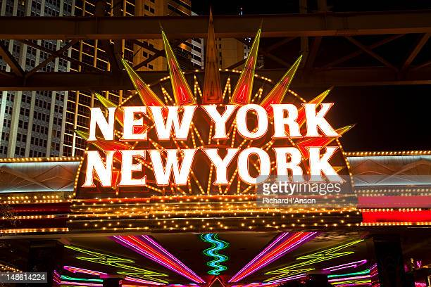 Sign at entrance to New York, New York Casino.