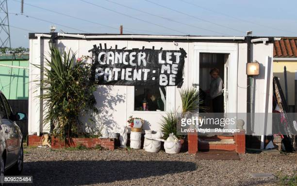A sign at the Dale Farm travellers site at Cray's Hill near Basildon Essex where bailiffs will later this morning begin to forcibly eject the...